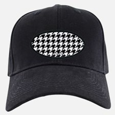 Houndstooth White Baseball Hat