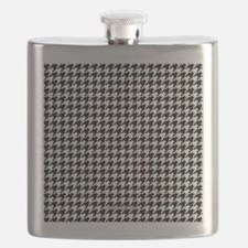 Houndstooth White Flask