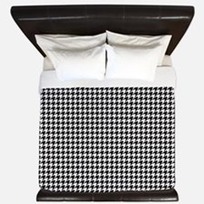 Houndstooth White King Duvet