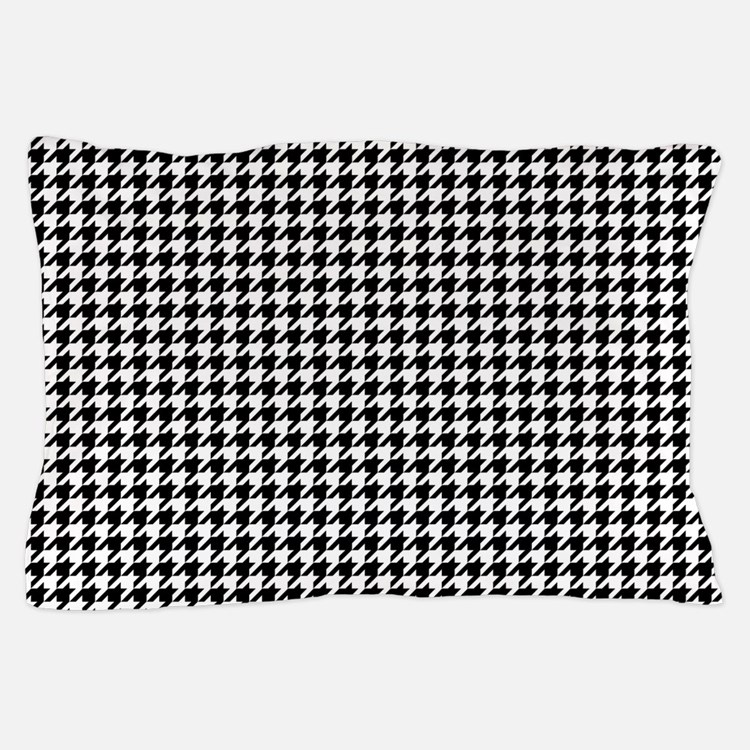 Houndstooth White Pillow Case