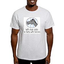 cute horse clean stalls T-Shirt