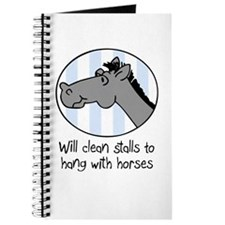 cute horse clean stalls Journal