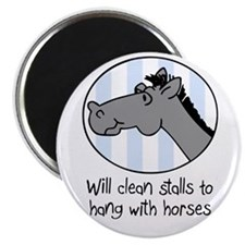 "cute horse clean stalls 2.25"" Magnet (10 pack)"