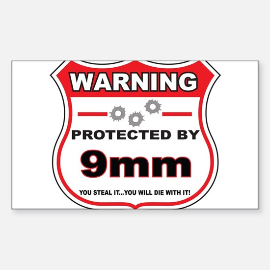 protected by 9mm shield Decal