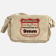 protected by 9mm shield Messenger Bag