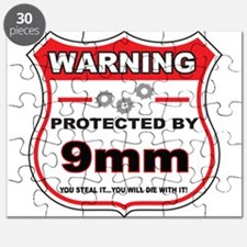protected by 9mm shield Puzzle
