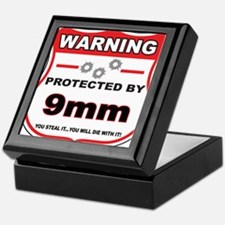 protected by 9mm shield Keepsake Box