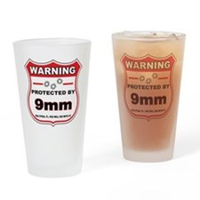 protected by 9mm shield Drinking Glass