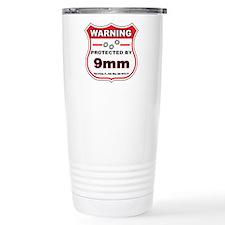 protected by 9mm shield Travel Mug