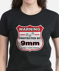 protected by 9mm shield T-Shirt