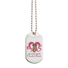My Hero Wears Combat Boots Dog Tags