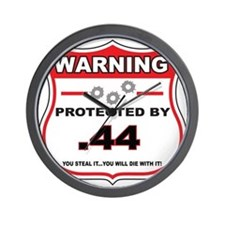 protected by 44 shield Wall Clock