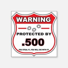 protected by 500 shield Sticker