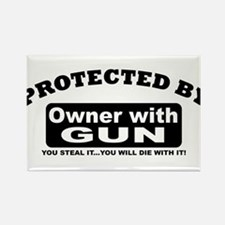 property of protected by gun owner b Rectangle Mag