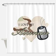 Desert Camo Hearts - AF Shower Curtain