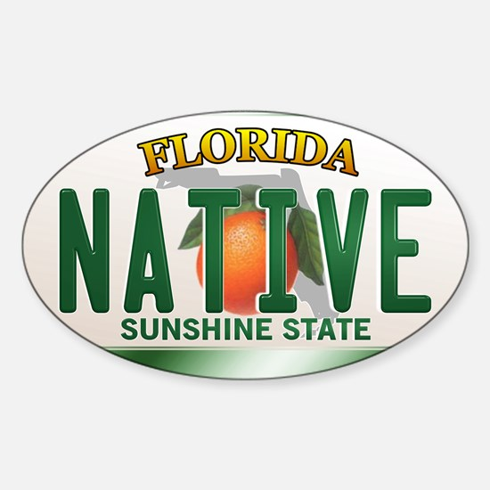 """NATIVE"" Florida License Plate Decal"