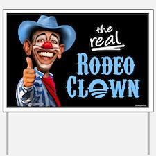Obama Rodeo Clown Yard Sign