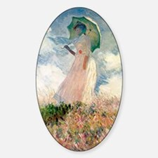 Monet study of a figure a figure ou Sticker (Oval)
