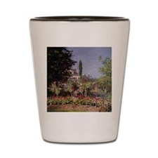 Monet Flowering Garden Shot Glass