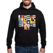 Nautical Flags Hoodie (dark)