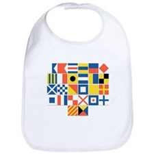 Nautical Flags Bib