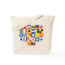 Nautical Flags Tote Bag