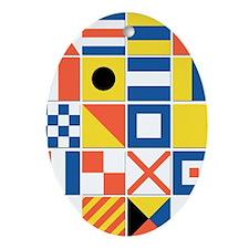 Nautical Flags Ornament (Oval)