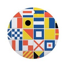 Nautical Flags Ornament (Round)