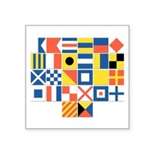 Nautical Flags Square Sticker 3