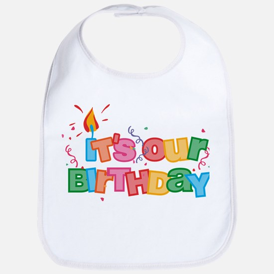 It's Our Birthday Letters Bib