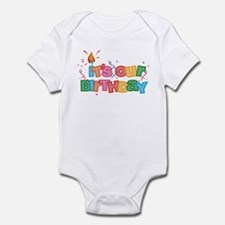 It's Our Birthday Letters Infant Bodysuit