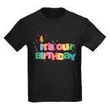 Its our birthday 4 Kids T-shirts (Dark)