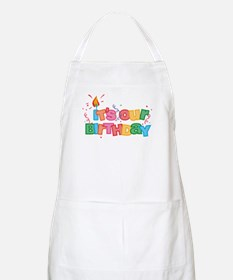 It's Our Birthday Letters Apron