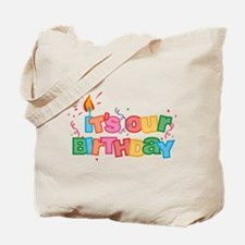 Its Our Birthday Letters Tote Bag