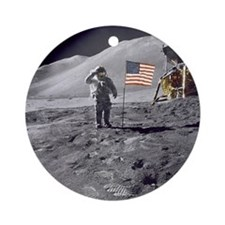 Apollo moon mission Round Ornament