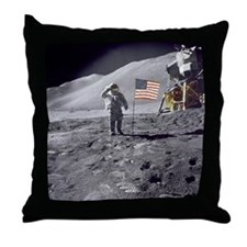 Apollo moon mission Throw Pillow