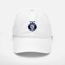 Fire Chiefs Son Blue Maltese Baseball Baseball Cap