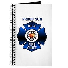 Fire Chiefs Son Blue Maltese Journal