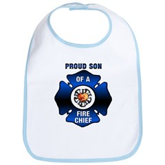 Fire Chiefs Son Blue Maltese Bib
