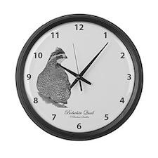 Bobwhite Quail Large Wall Clock
