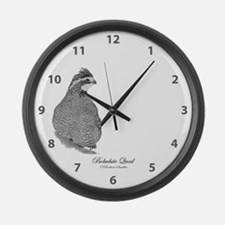 Bobwhite Quail Large Wall Clock