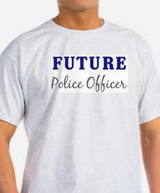 Future Police Officer Ash Grey T-Shirt