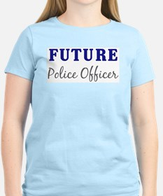Future Police Officer Women's Pink T-Shirt