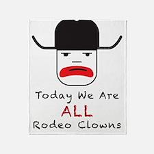 Rodeo Clown Throw Blanket
