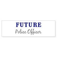 Future Police Officer Bumper Car Sticker