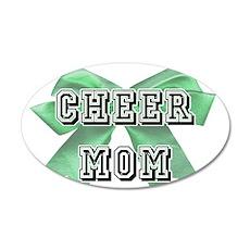 Green Cheer Mom Wall Decal