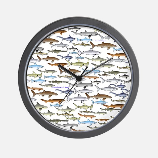 School of Sharks 2 Wall Clock