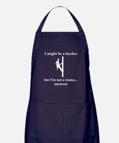 I might be a hooker white decal Apron (dark)