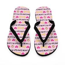 I Love My Chinese Shar-Pei Flip Flops