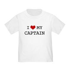 I Love CAPTAIN Toddler T-Shirt